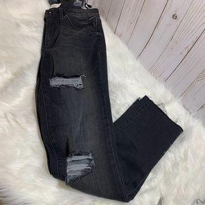 Jessica Simpson Black Distressed Jeans